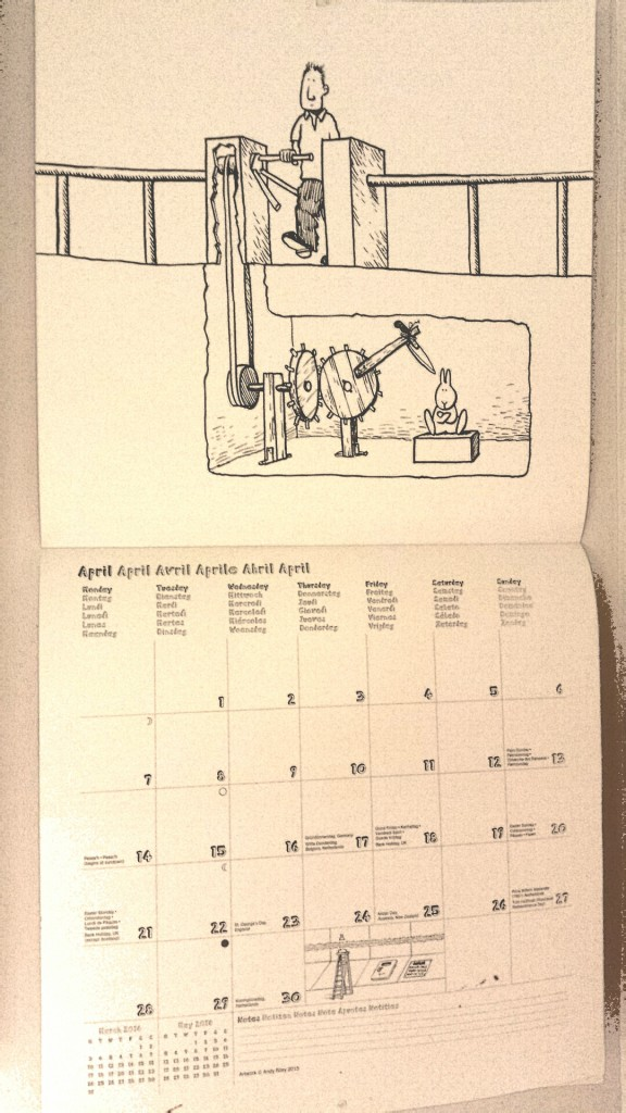Suicide bunnies calendar, April 2014